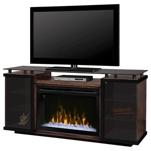 Media Console with Fireplace Insert