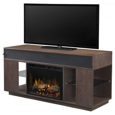 "64"" Media Console Fireplace"