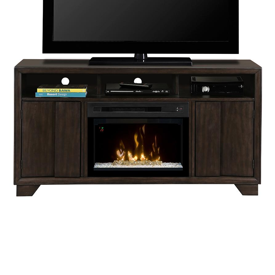 Media Mantel with 25 inch Firebox
