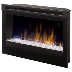 "Dimplex Electric Fireboxes 25"" Glass Ember Electric Firebox"