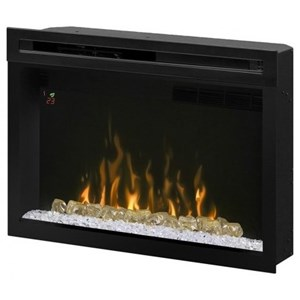 "Dimplex Electric Fireboxes 33"" Electric Fireplace Insert Glass Bed"