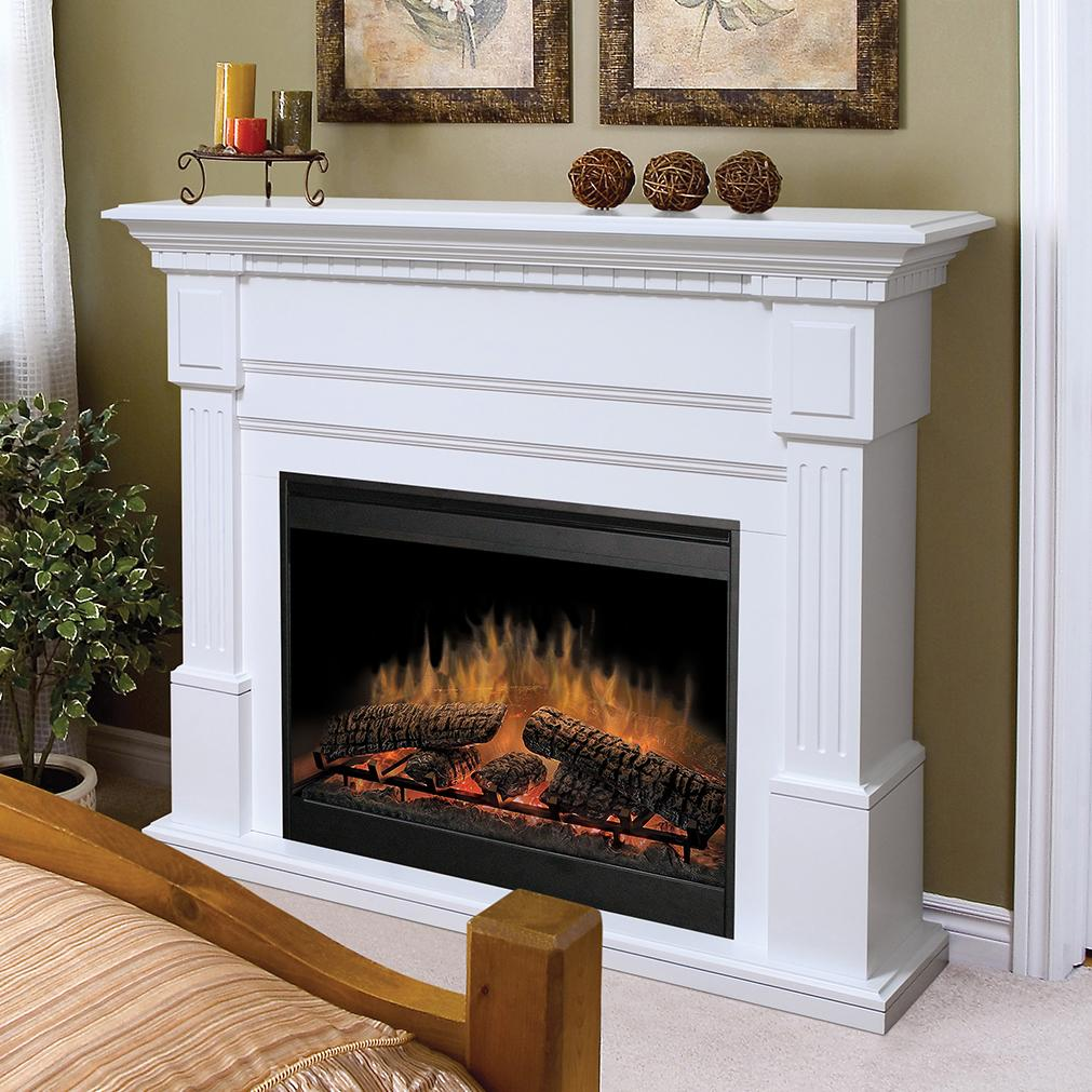 Flat Wall Fireplaces Essex White Electric Fireplace By Dimplex Wolf Furniture