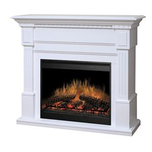 Dimplex Flat-Wall Fireplaces Essex White Electric Fireplace