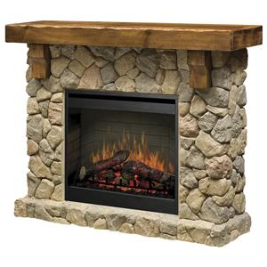 Dimplex Flat-Wall Fireplaces Fieldstone Flat-Wall Fireplace