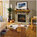 Dimplex Flat-Wall Fireplaces Rustic Fieldstone Flat-Wall Fireplace