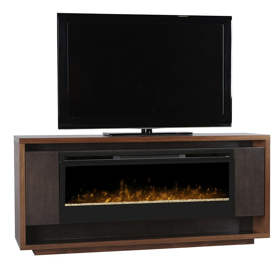 Maddock Media Console With 50 Inch Electric Firebox By Dimplex Wolf Furniture