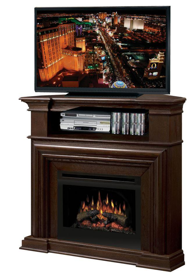 Montgomery Corner Media Console Fireplace