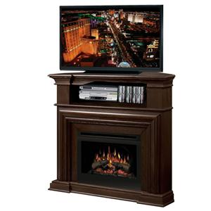 Montgomery Corner Media Console Fireplace