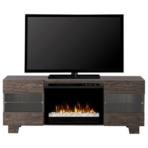 Max Acrylic Ice Media Mantel Fireplace