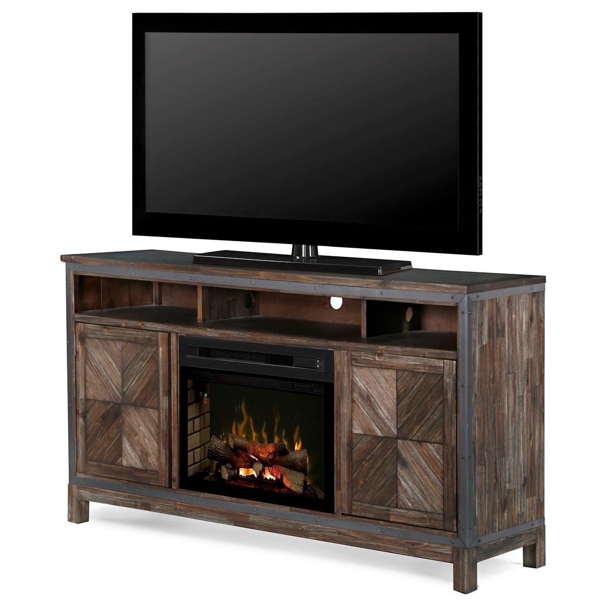 Wyatt Media Mantel Fireplace
