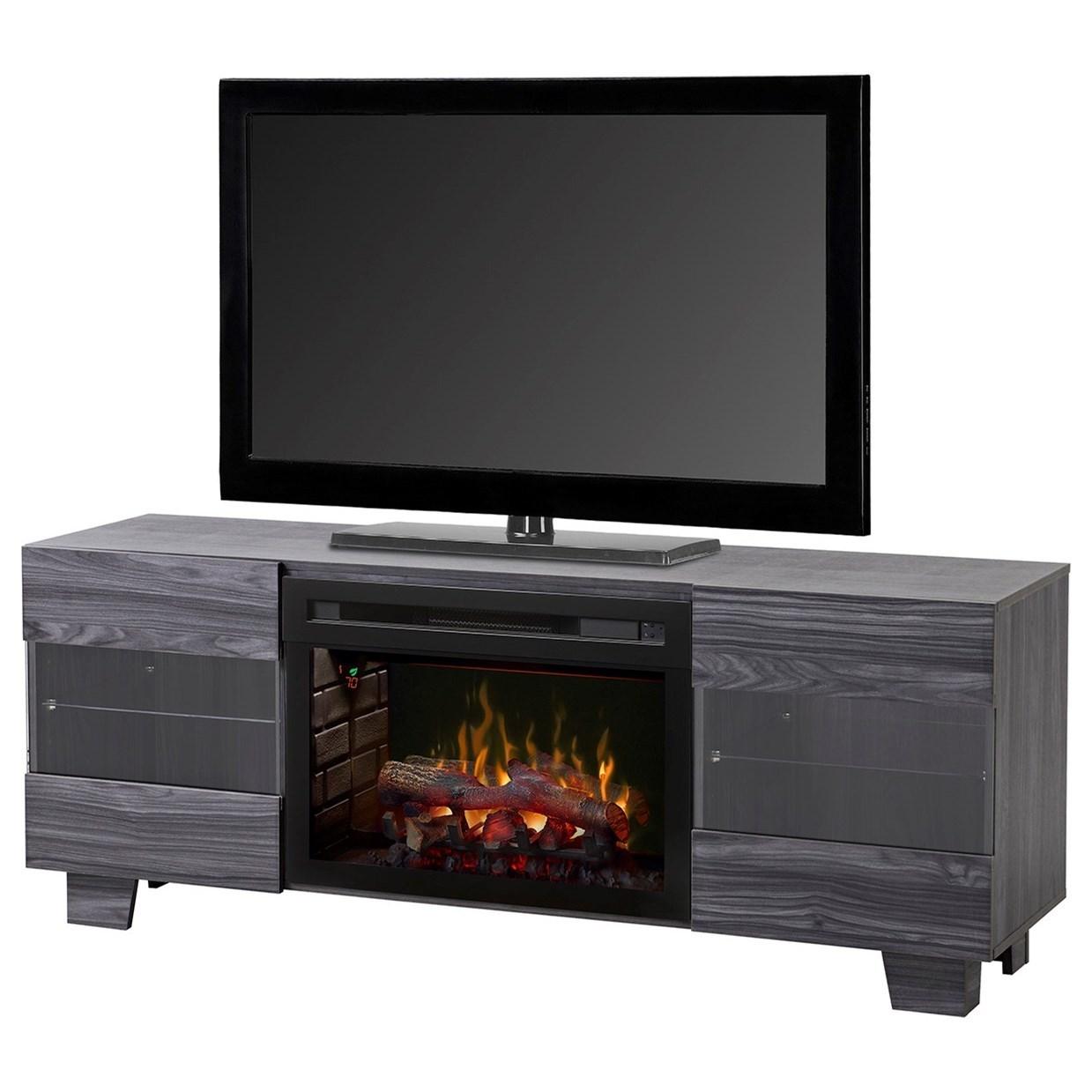 Max Media Mantel Fireplace