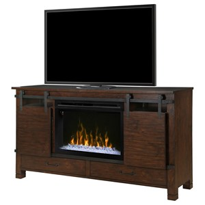 Austin Media Mantel Fireplace