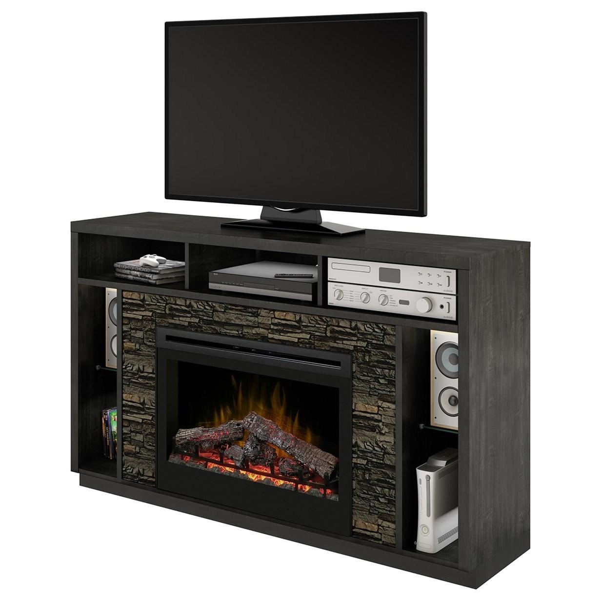 Joseph Media Mantel Fireplace