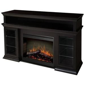 Bennett Media Console Fireplace with Logs