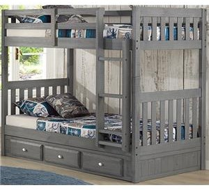 Discovery World Furniture Charcoal Twin/Twin Bunk Bed