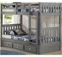 Discovery World Furniture Charcoal Twin/Twin Bunk Bed - Item Number: P192569