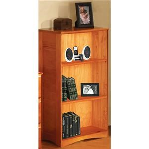 Discovery World Furniture Honey 42'' Casual Bookcase
