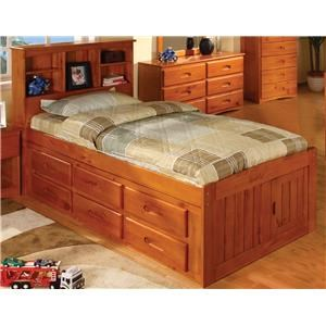 Discovery World Furniture Honey Twin Bookcase Bed