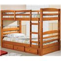 Discovery World Furniture Honey  Twin Bunk Bed - Item Number: 2110