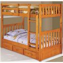Discovery World Furniture Honey  Twin Bunk Bed - Item Number: 2111