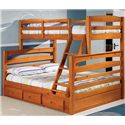 Discovery World Furniture Honey  Twin over Full Bunk Bed - Item Number: 2119