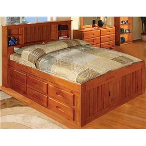 Discovery World Furniture Honey  Full Captain's Bed