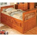 Discovery World Furniture Honey  Twin Captain's Bed - Item Number: 2135