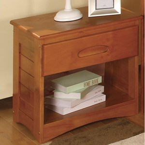 Discovery World Furniture Honey  Casual Nightstand