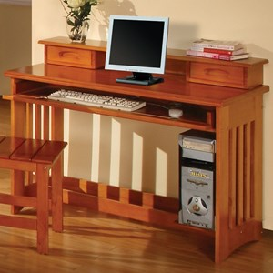 Discovery World Furniture Honey  Desk & Hutch