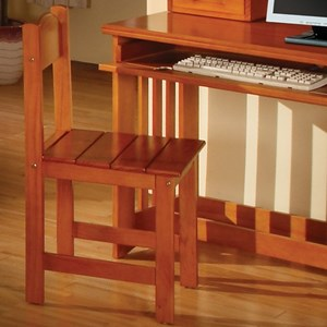discovery world furniture honey casual desk chair