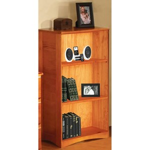 """Discovery World Furniture Honey  42"""" Casual Bookcase"""