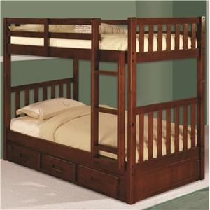 Discovery World Furniture Merlot Twin/Twin Bunk Bed