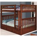 Discovery World Furniture Merlot Full Bunk Bed - Item Number: 2815+92