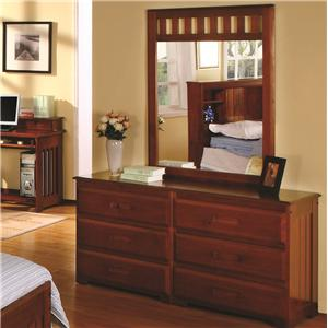 Discovery World Furniture Merlot Dresser & Mirror