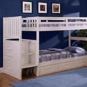 Discovery World Furniture White Twin Bunk Bed - Item Number: 0214