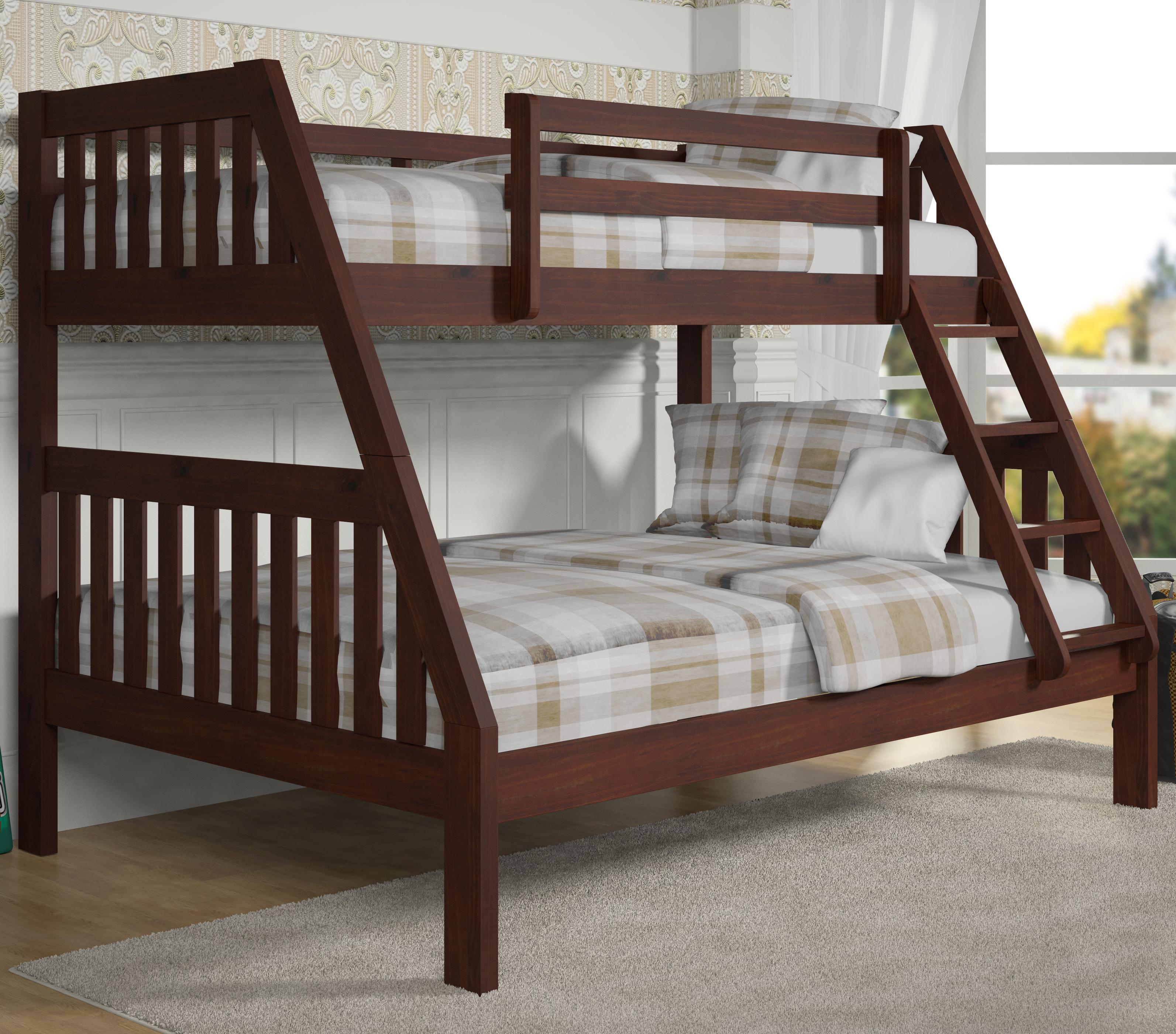 Donco Trading Co 1018 Twin over Full Bunk Bed - Item Number: 1018-3CP
