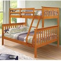 Donco Trading Co 122 Twin/Full Mission Bunkbed - Item Number: 122H