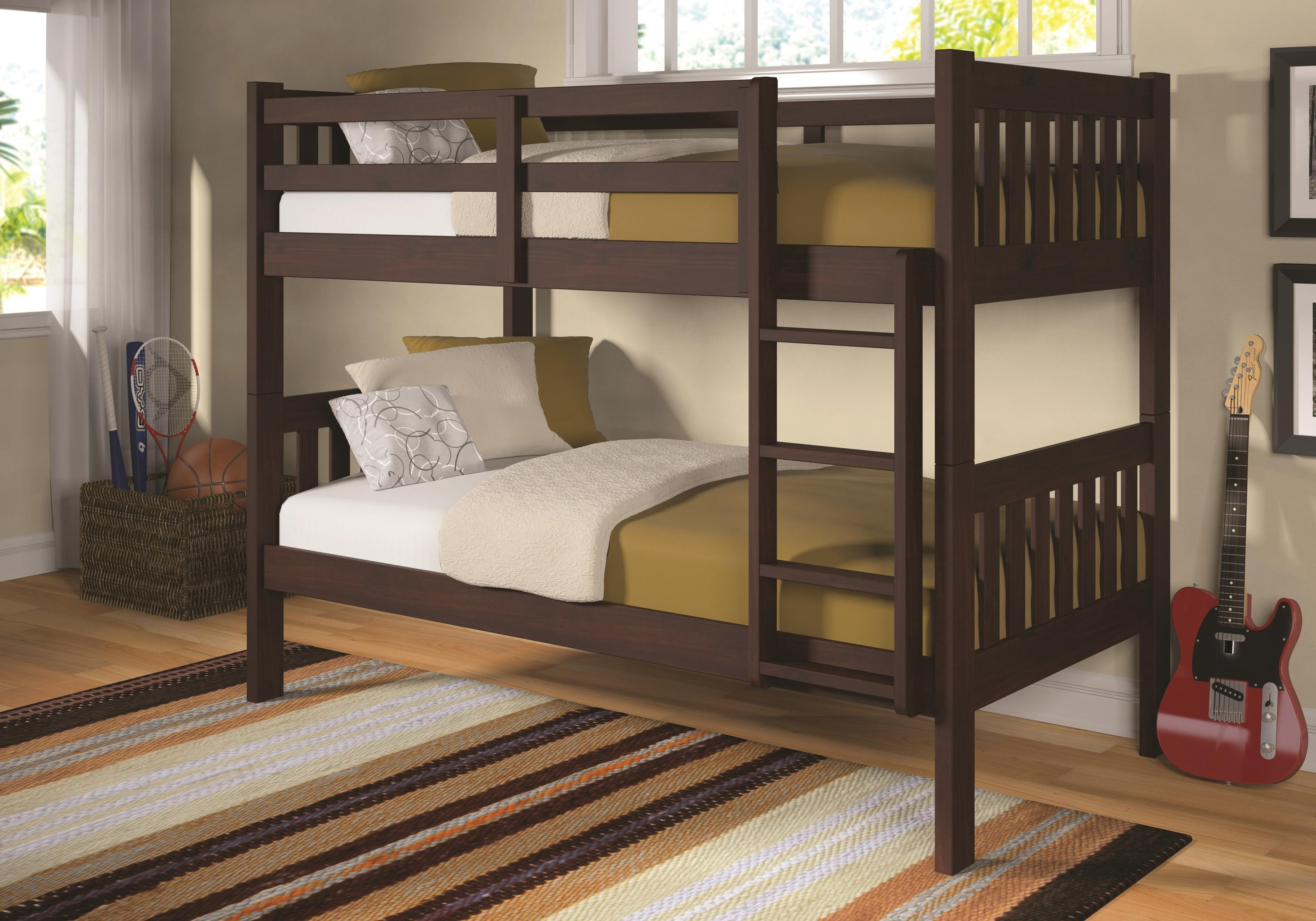 Mason - Mason Twin Bunk Bed by Donco Trading Co at Morris Home
