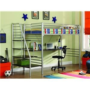 Donco Trading Co Ross Ross Twin Study Loft Bed