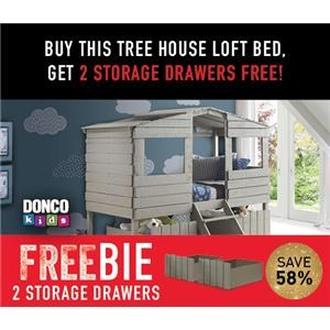 Honeydew Twin Treehouse Bed with Freebie