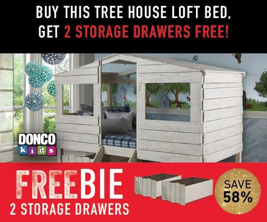 Honeydew Honeydew Twin Treehouse Bed with Freebie by Donco Trading Co at Morris Home