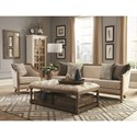 Donny Osmond Home 72141 Upholstered Coffee Table with Nailhead Trim