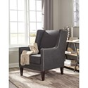 Donny Osmond Home Accent Seating Charcoal Accent Chair