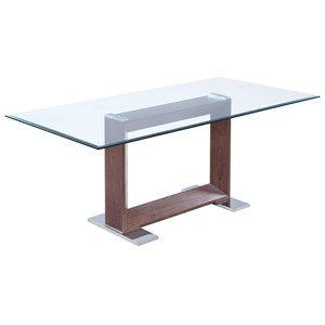Donny Osmond Home Jackson Modern Glass Dining Table