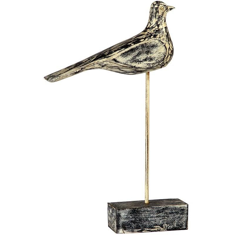 Wooden Bird On Stand