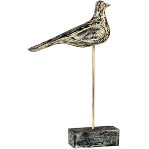 Wooden Bird On Stand