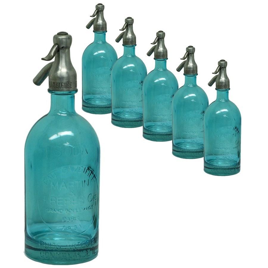 Blue Seltzer Bottle - Set of 6