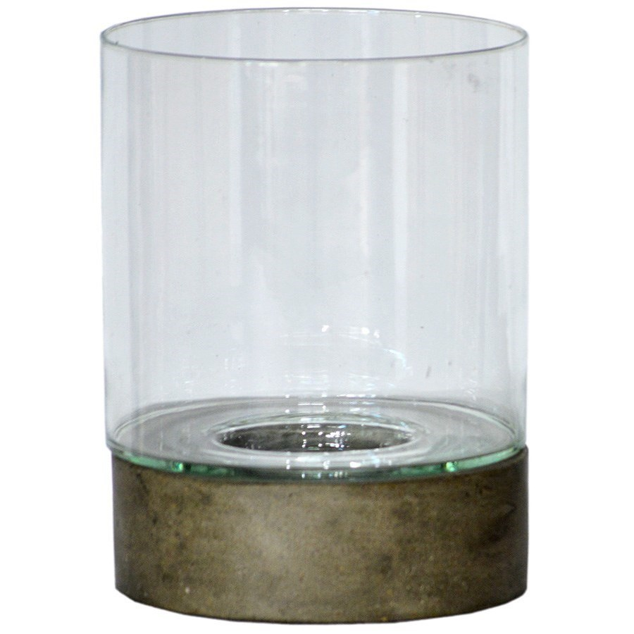 """Accessories 11"""" Glass Hurricane with Base - Set of 2 at Williams & Kay"""