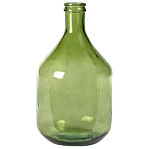 Dovetail Furniture Ceramic and Glass Accessories Olive Bottle Medium-Green