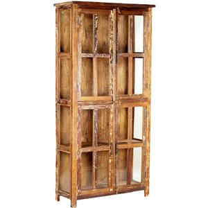 Dovetail Furniture Nantucket 16 Glass Door Cabinet